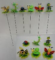 Springing Yard Stake [Insects on Leaves/Lily Pad Assortment]